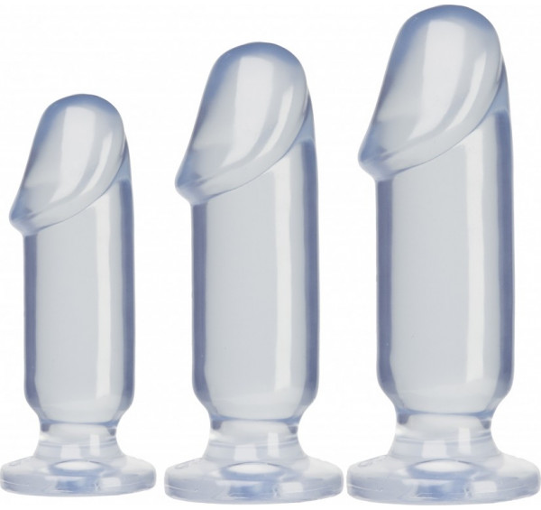 3 Butt Plugs Crystal Jellies Doc Johnson