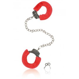 Furry Ankle Cuffs Red