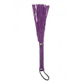 Purple Suede Leather Flogger