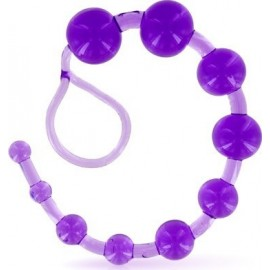 Anal Beads Clear Purple Glamy