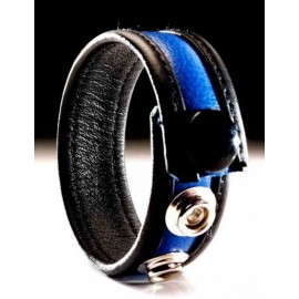 Leather Cockring Black-Blue