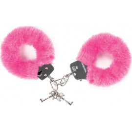 Faux Fur Covered Handcuffs Pink