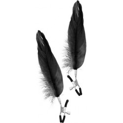 Pair of Feather Nipple Clamps Black