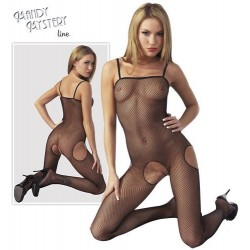 Open Fishnet Bodystocking with Straps