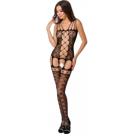BODYSTOCKING CORSET STYLE BLACK BS054