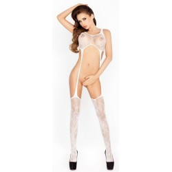 VERY OPEN BODYSTOCKING WHITE BS016