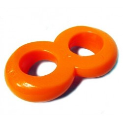 Zizi XXX Cosmic 8-ring Cock & Ball Ring Orange