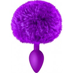 Bunny Tail Anal Plug Purple