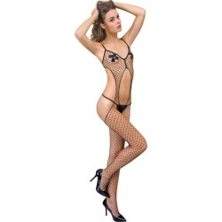 Large Mesh Fishnet Open Bodystocking