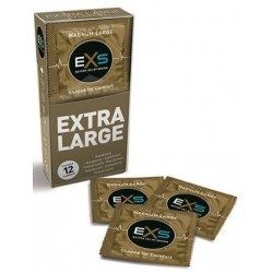 12 Extra Large Condoms Latex EXS