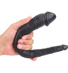 COX TAPERED DOUBLE DILDO 35 x 2.2 et 5 cm