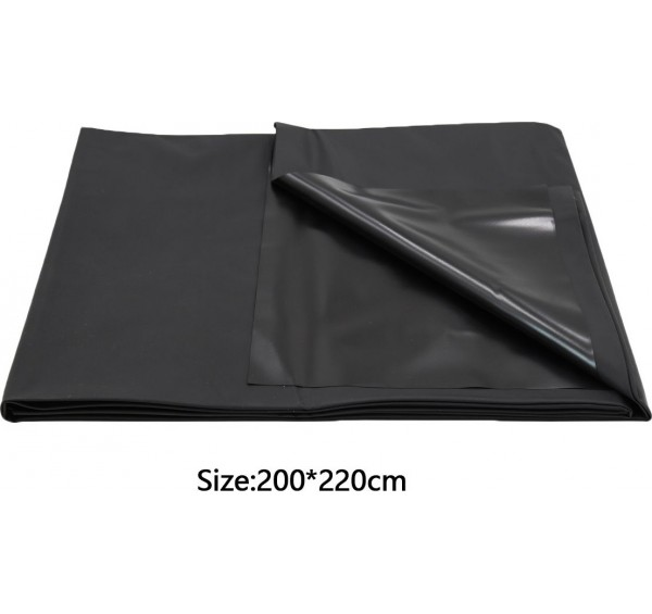 Large Black PVC Play Sheet Cover 200 cm x 220 cm