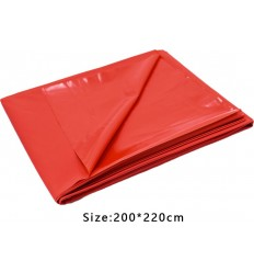 Large Red PVC Play Sheet Cover 200 cm x 220 cm