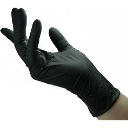 10 Pair Black Latex Gloves