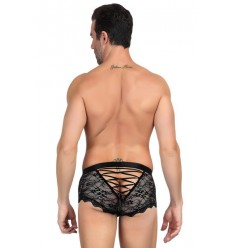 SEXY LACE BOXER FOR MEN BLACK MP073