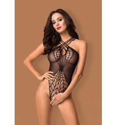 Open Crotch Bodysuit Teddy B118