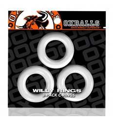 3 Oxballs Cockrings Willy Rings C-Rings Blanc