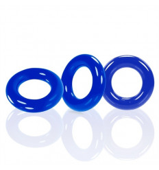 3 Oxballs Cockrings Willy Rings C-Rings Police Blue