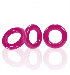 3 Oxballs Cockrings Willy Rings C-Rings Hot Pink