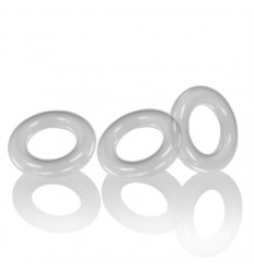 3 Oxballs Cockrings Willy Rings C-Rings Clear