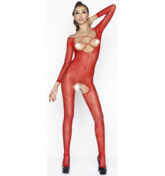 SEXY TOPLESS & CROTCHLESS BODYSTOCKING RED BS040