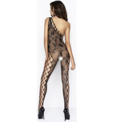 ONE SHOULDER CROTCHLESS BODYSTOCKING BLACK BS036