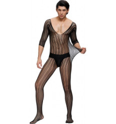 Sexy Crotchless Bodystocking For Men Black MP162