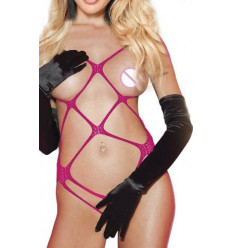 Very Open Bodysuit R80392-2 Fuchsia