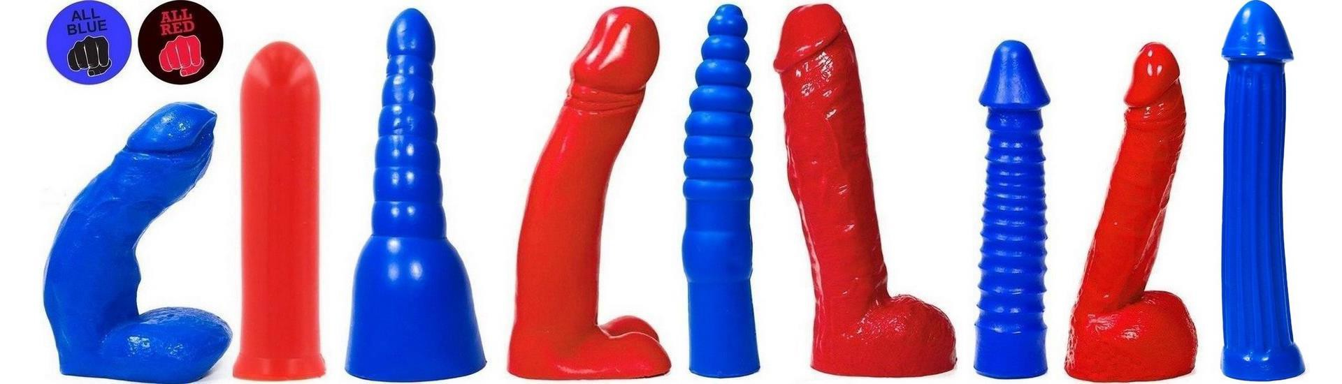 All Blue & All Red Dildos